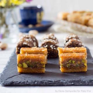 Ливанские сладости Pate D`or осмалия с фисташками, 250 гр