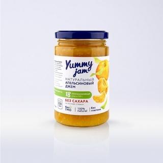 Апельсиновый джем Yummy jam с имбирем без сахара, 350 гр