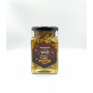 Акациевый мёд Добрые традиции с тыквенными семечками, 300 гр