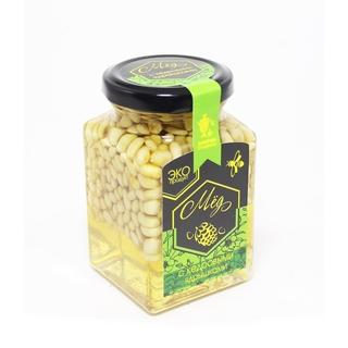 Акациевый мёд Добрые традиции с кедровым ядрышком, 300 гр