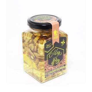 Акациевый мёд Добрые традиции с грецким орехом, 300 гр