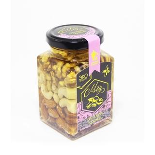 Акациевый мёд Добрые традиции с ореховым ассорти, 300 гр