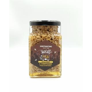 Акациевый мёд Добрые традиции с семечками подсолнуха, 280 гр