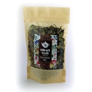 Иван чай Добрые традиции с листьями вишни в крафт пакете, 100 гр