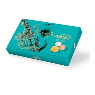 Ассорти пишмание Adlin в подарочной упаковке со вкусом какао, ванили и шафрана, 350 гр