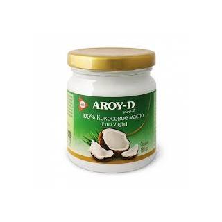 Кокосовое масло Aroy-D нерафинированное extra virgin, 180 мл