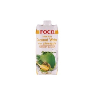 Кокосовая вода Foco с соком ананаса, 330 мл