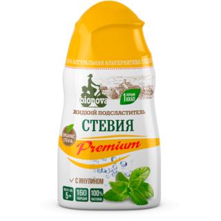 Жидкий сахарозаменитель стевия Bionova с инулином, 80 гр
