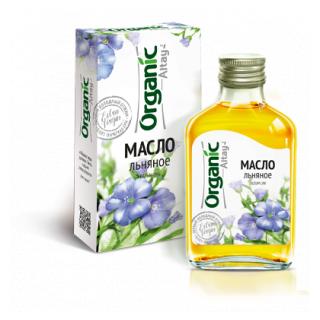 Льняное масло Organic Altay, 100 мл