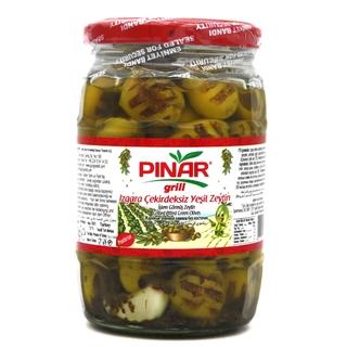 Оливки зеленые Pinar обжаренные на гриле
