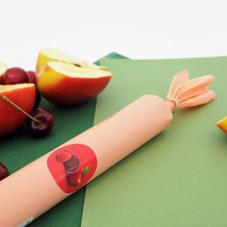 Рулет фруктовый ХОБА яблоко-клубника, 250 гр