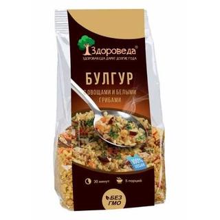 Булгур Здороведа с белыми грибами и овощами, 250 гр