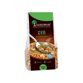Суп старорусский Здороведа из полбы и зеленой чечевицы, 250 гр
