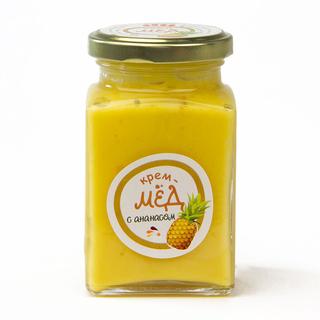 Крем-мёд с ананасом, 300 гр