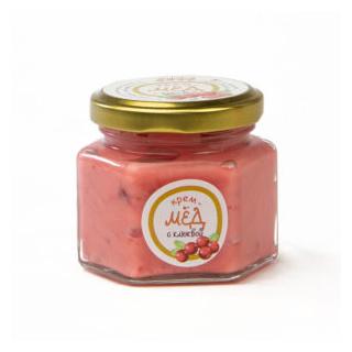 Крем-мёд с клюквой, 150 гр