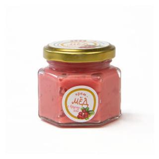 Крем-мёд с брусникой, 150 гр