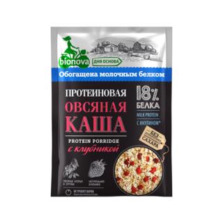 Протеиновая овсяная каша Bionova с клубникой, 40 гр