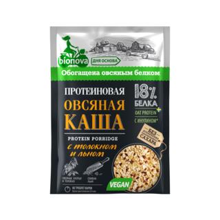 Протеиновая овсяная каша Bionova с толокном и льном, 40 гр