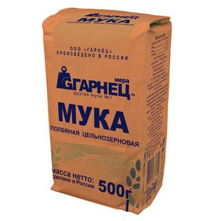 Мука полбяная цельнозерновая Гарнец, 500 гр