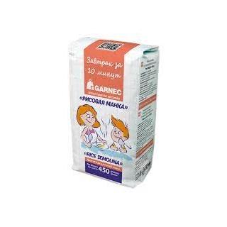 Рисовая манка Гарнец без глютена, 450 гр