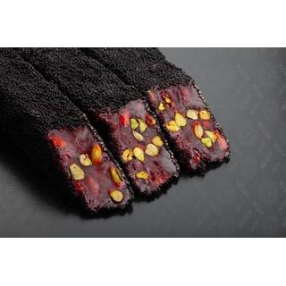 Гранатовый лукум Hacibaba с фисташкой с шоколадных гранулах, 100 гр