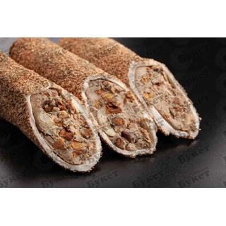 Лукум мега Hacibaba с кремом из фундука с миндалем в корице, 100 гр