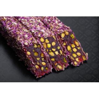 Гранатовый лукум Hacibaba с фисташкой в розе, 100 гр
