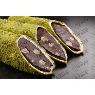 Лукум Hacibaba шоколадная паста с фундуком в молотой фисташке, 100 гр