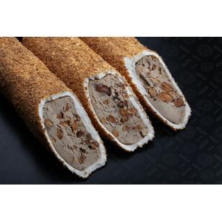 Молочный лукум Hacibaba Мега с пастой из миндаля в миндальной стружке, 100 гр
