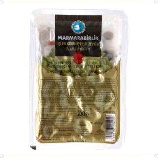 Оливки зеленые Marmarabirlik kokteyl 3XL, 200 гр