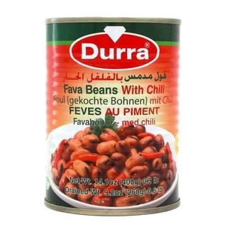 Бобы фуль с острым перцем Durra, 400 гр