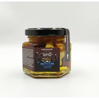 Акациевый мёд Добрые традиции с ореховым ассорти, 155 гр